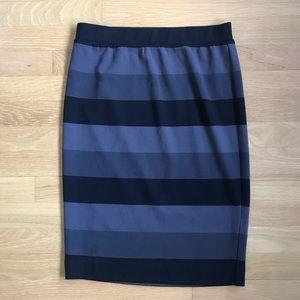 ELLE striped pencil skirt
